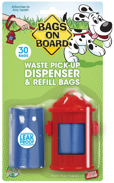 Bags on Board Fire Hydrant Dispenser, 1 dispenser, 30 bags