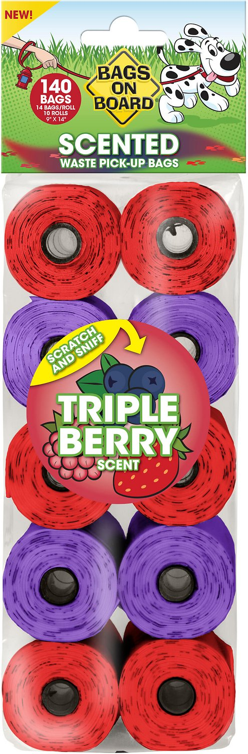 Bags on Board Triple Berry Scented Bag Refill Pack, 140-count
