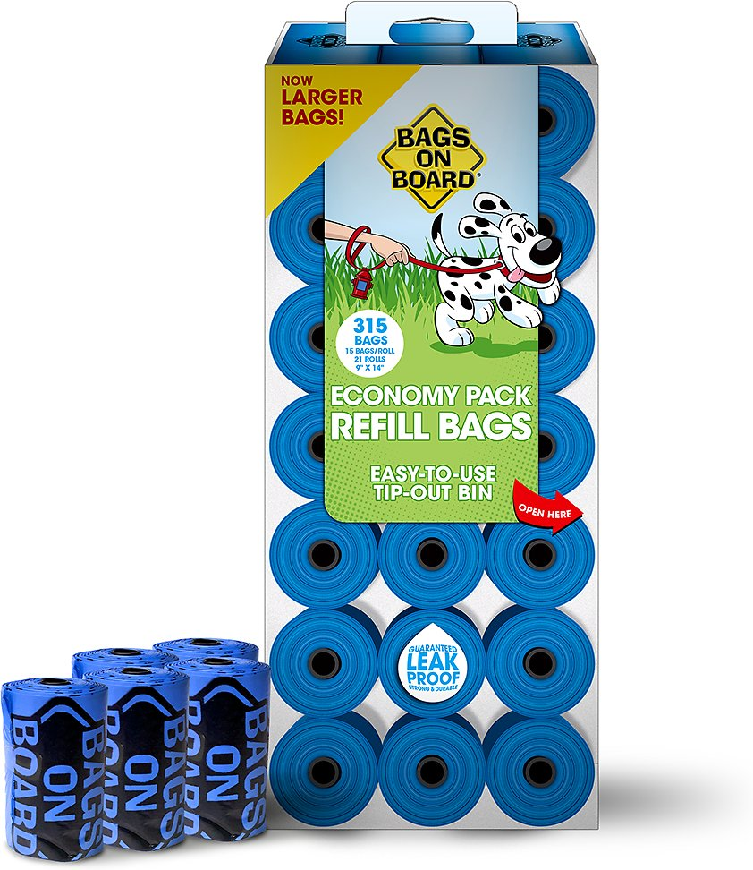 Bags on Board Bag Refill Pack, Unscented, Color Varies, 315 count