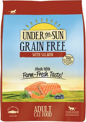 Under the Sun Grain-Free Adult Salmon Recipe Dry Cat Food
