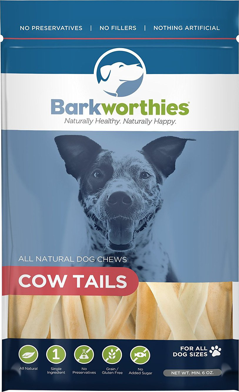 Barkworthies Cow Tails Dog Treats, 6-oz bag
