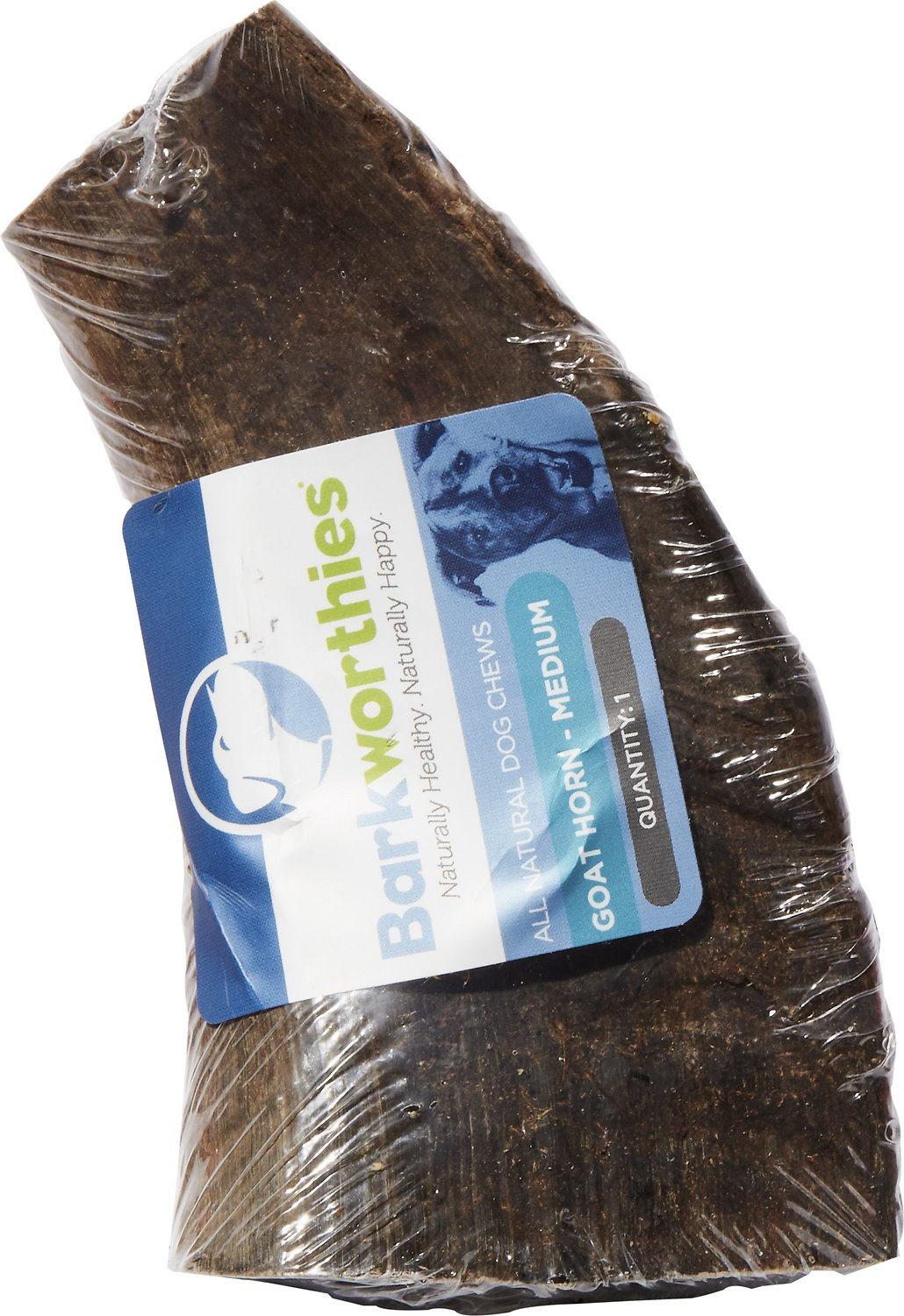 Barkworthies Goat Horn Medium Dog Chew