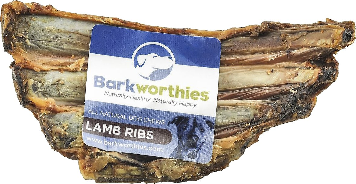Barkworthies Lamb Ribs Dog Treats