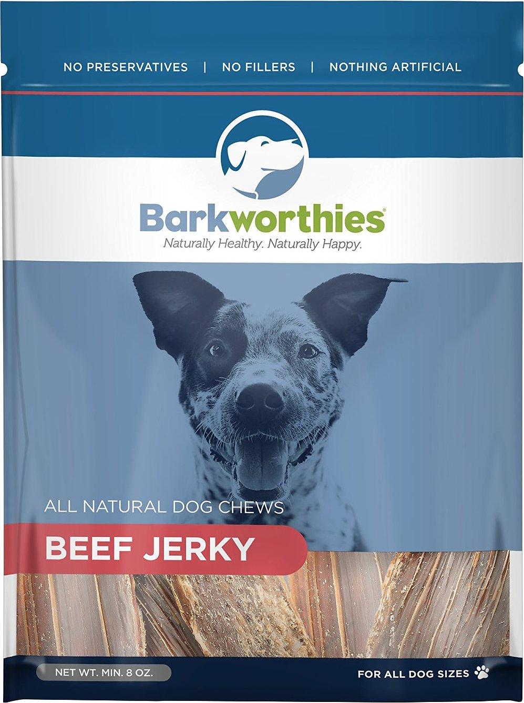 Barkworthies Beef Jerky Dog Treats, 8-oz bag