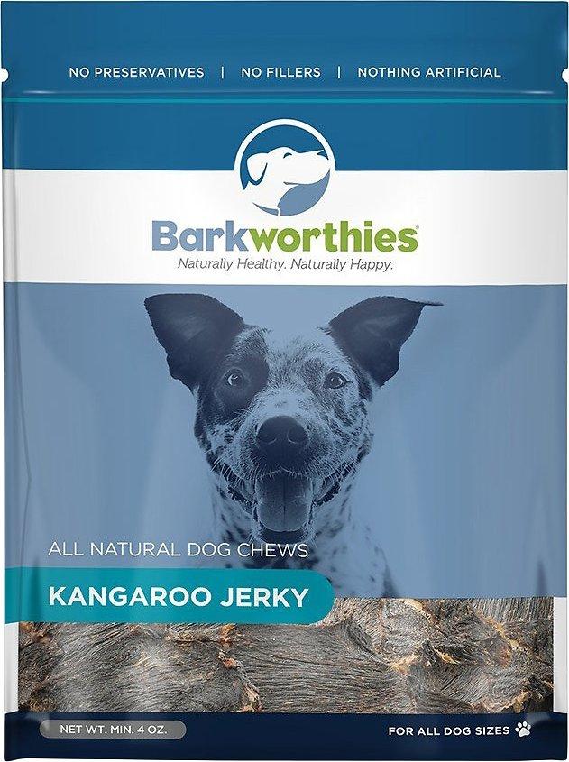 Barkworthies Kangaroo Jerky Dog Treats, 4-oz bag