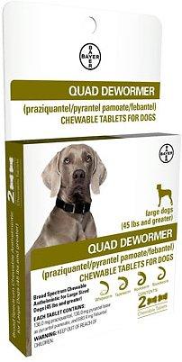 Bayer Quad Large Dog De-Wormer, 2-count