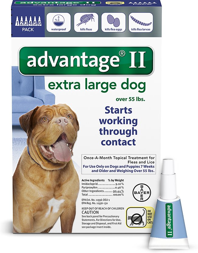 Advantage II Flea Treatment for Extra Large Dogs Over 55 lbs