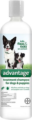 Bayer Advantage Flea & Tick Treatment Shampoo for Dogs & Puppies, 24-oz