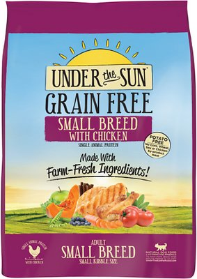 Under the Sun Grain-Free Small Breed Adult Chicken Recipe Dry Dog Food