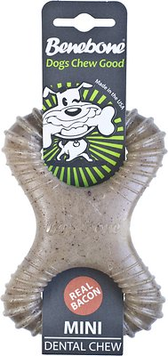 Benebone Bacon Flavored Dental Dog Chew Toy, Mini