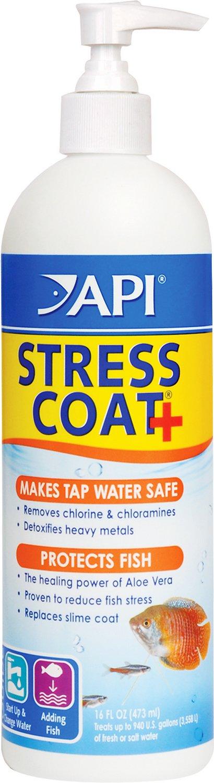 API Stress Coat with Pump Aquarium Water Conditioner, 16-oz bottle