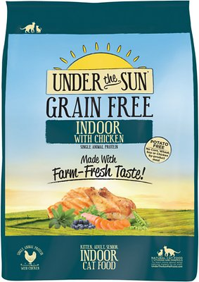 Under the Sun Grain-Free Indoor Chicken Recipe Dry Cat & Kitten Food