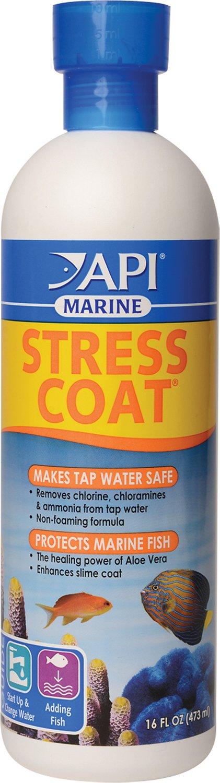 API Marine Stress Coat Saltwater Aquarium Water Conditioner, 16-oz bottle