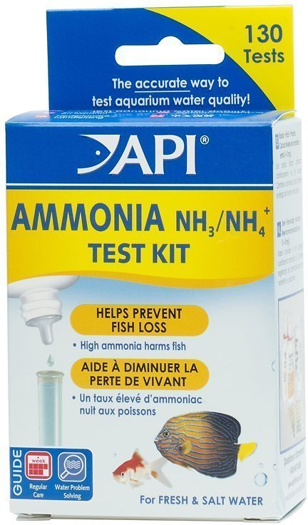 API Ammonia Freshwater & Saltwater Aquarium Test Kit, 130 count