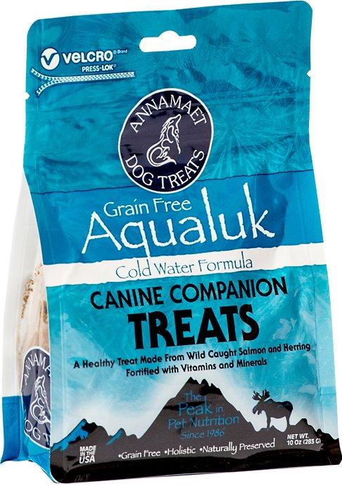 Annamaet Grain-Free Aqualuk Cold Water Formula Dog Treats, 10-oz bag