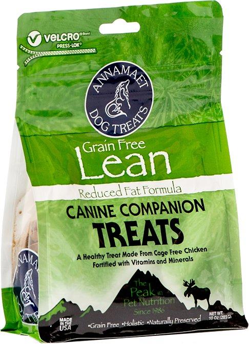 Annamaet Grain-Free Lean Reduced Fat Formula Dog Treats, 10-oz bag