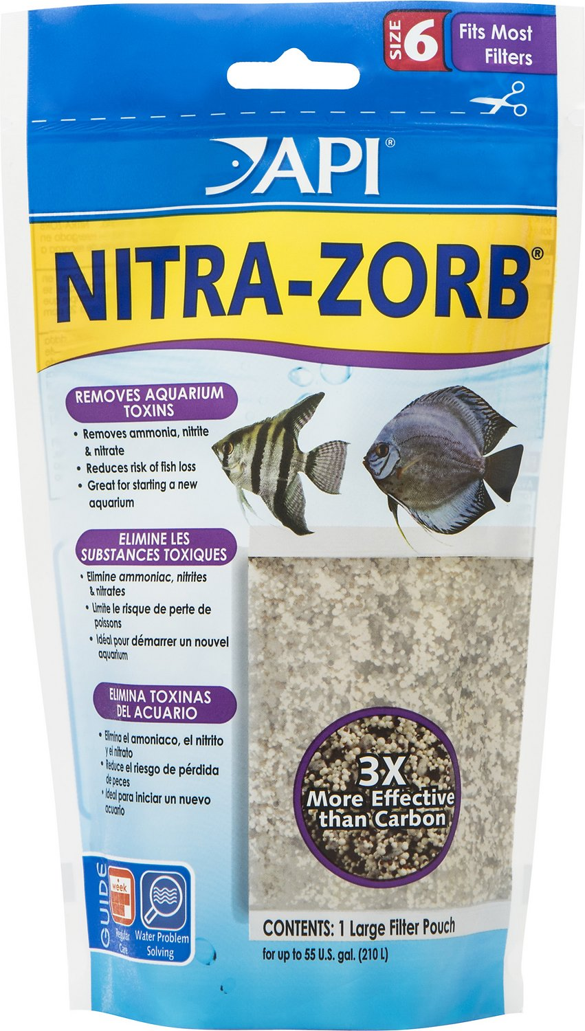 API Nitra-Zorb Aquarium Canister Filter Filtration Pouch, Size 6