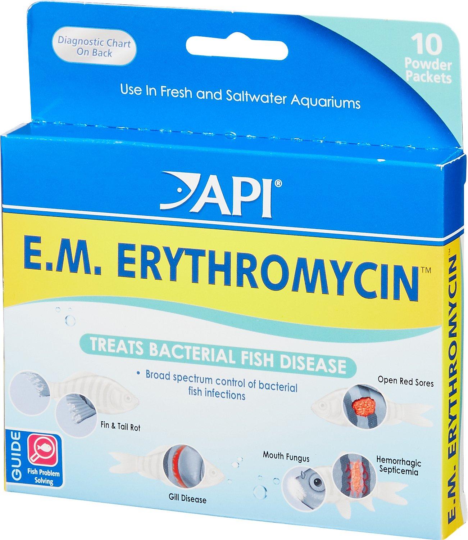 API E.M. Erythromycin Freshwater Fish Bacterial Disease Medication, 10 count