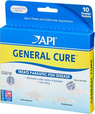 API General Cure Freshwater & Saltwater Aquarium Parasitic Fish Disease Treatment