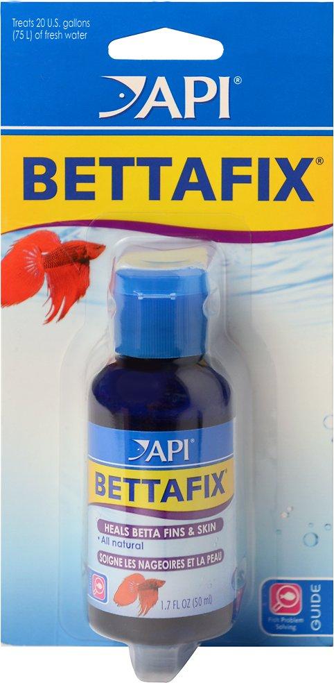 API Bettafix Antibacterial & Antifungal Betta Fish Infection Remedy, 1.7-oz bottle