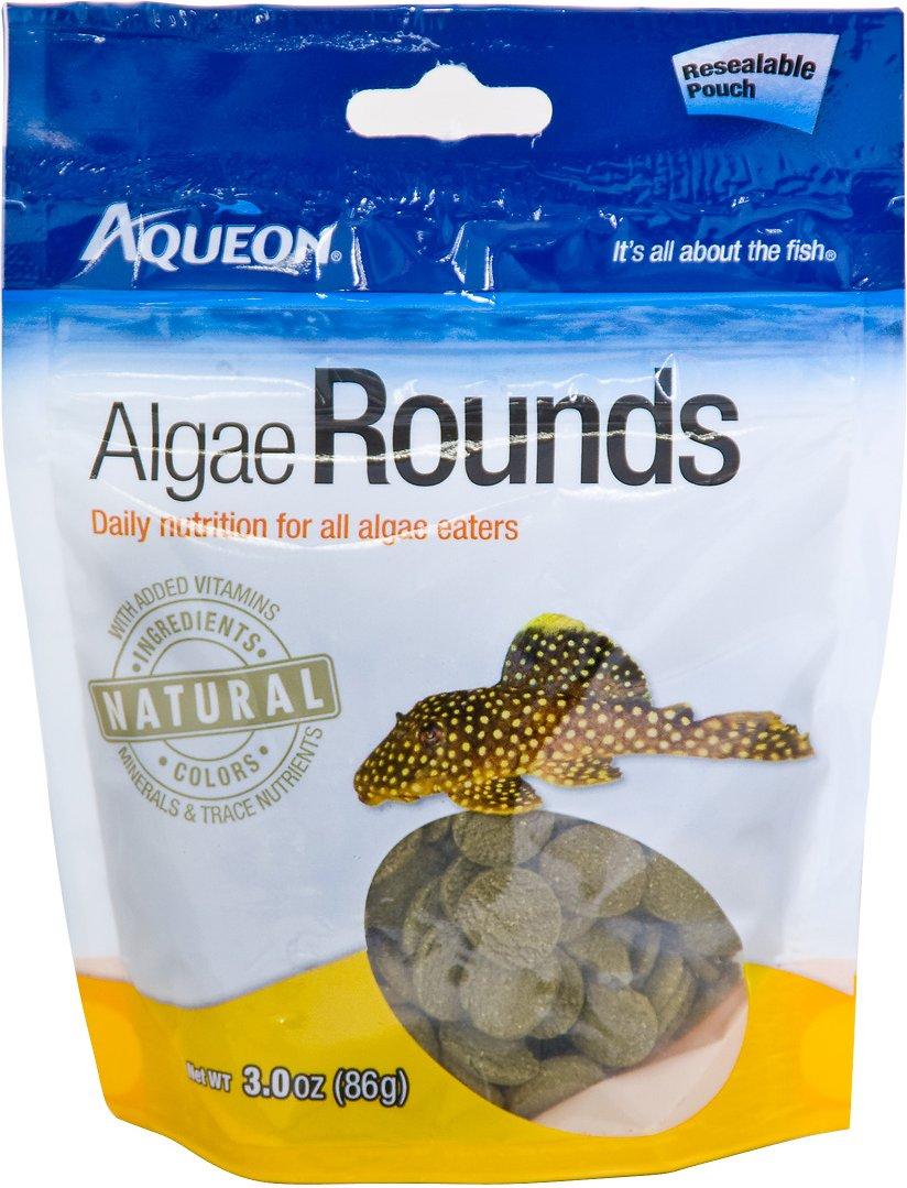 Aqueon Algae Rounds Bottom Feeder Fish Food, 3-oz bag