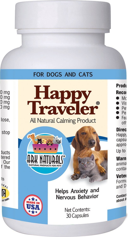 Ark Naturals Happy Traveler Dog & Cat Capsules, 30 capsules