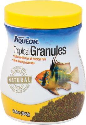 Aqueon Tropical Granules Fish Food, 6.5-oz jar