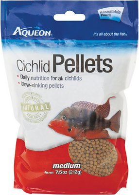 Aqueon Medium Cichlid Pellet Fish Food