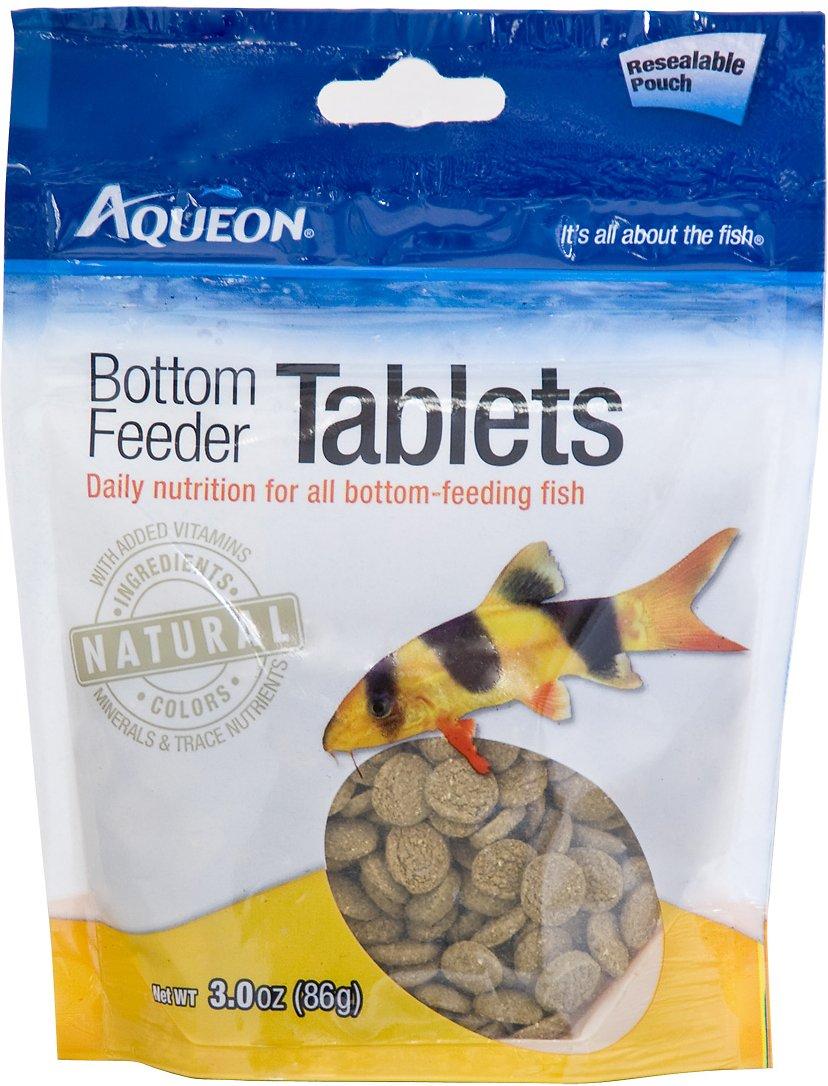 Aqueon Tablets Bottom Feeder Fish Food, 3-oz bag