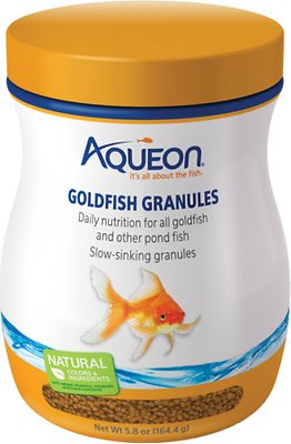 Aqueon Goldfish Granule Fish Food, 5.8-oz jar