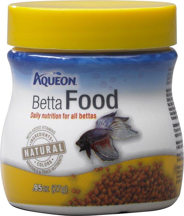 Aqueon Betta Fish Food, .95-oz jar