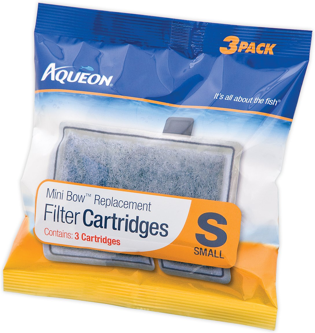 Aqueon Small Bow Filter Cartridge Replacement, 3-count