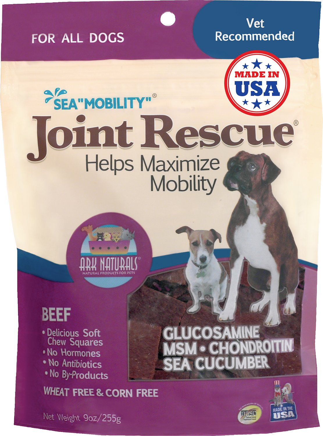 "Ark Naturals Sea ""Mobility"" Joint Rescue Beef Jerky Dog Treats, 9-oz bag"