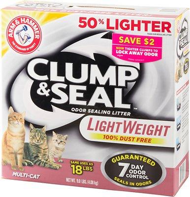 Arm & Hammer Litter Clump & Seal LightWeight Multi-Cat Litter, 9-lb box