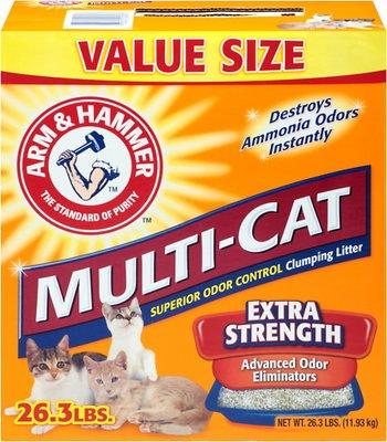 Arm & Hammer Litter Multi-Cat Strength Fresh Scent Clumping Litter, 26.3-lb box