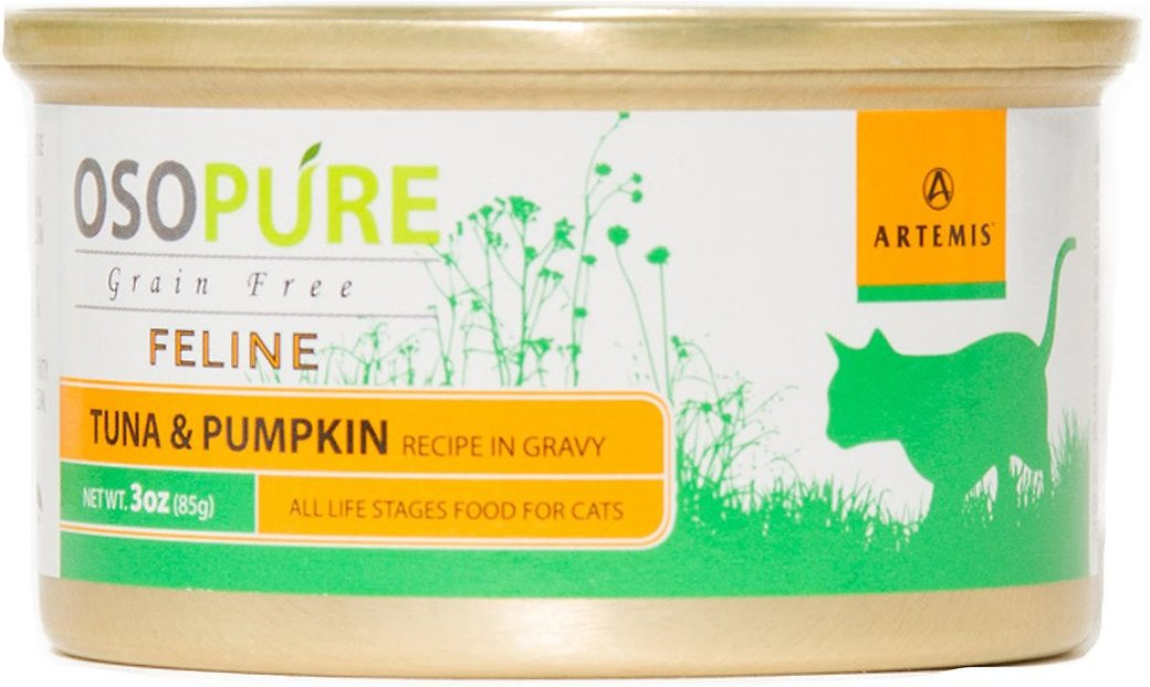 Artemis Osopure Tuna & Pumpkin Recipe in Gravy Grain-Free Canned Cat Food, 3-oz