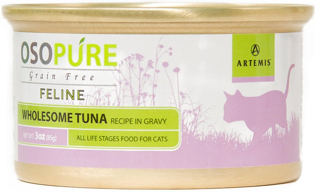 Artemis Osopure Tuna Recipe in Gravy Grain-Free Canned Cat Food, 3-oz