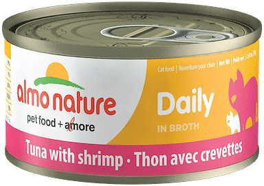 Almo Nature Daily Tuna with Shrimp in Broth Grain-Free Canned Cat Food, 2.47-oz