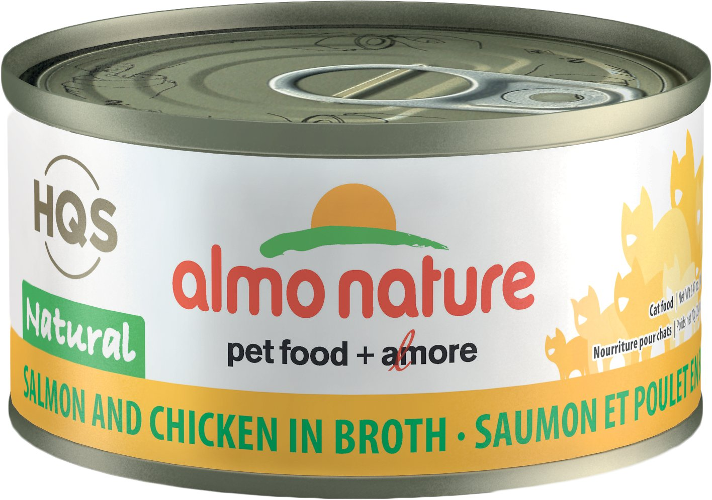 Almo Nature Natural Salmon & Chicken in Broth Grain-Free Canned Cat Food, 2.47-oz