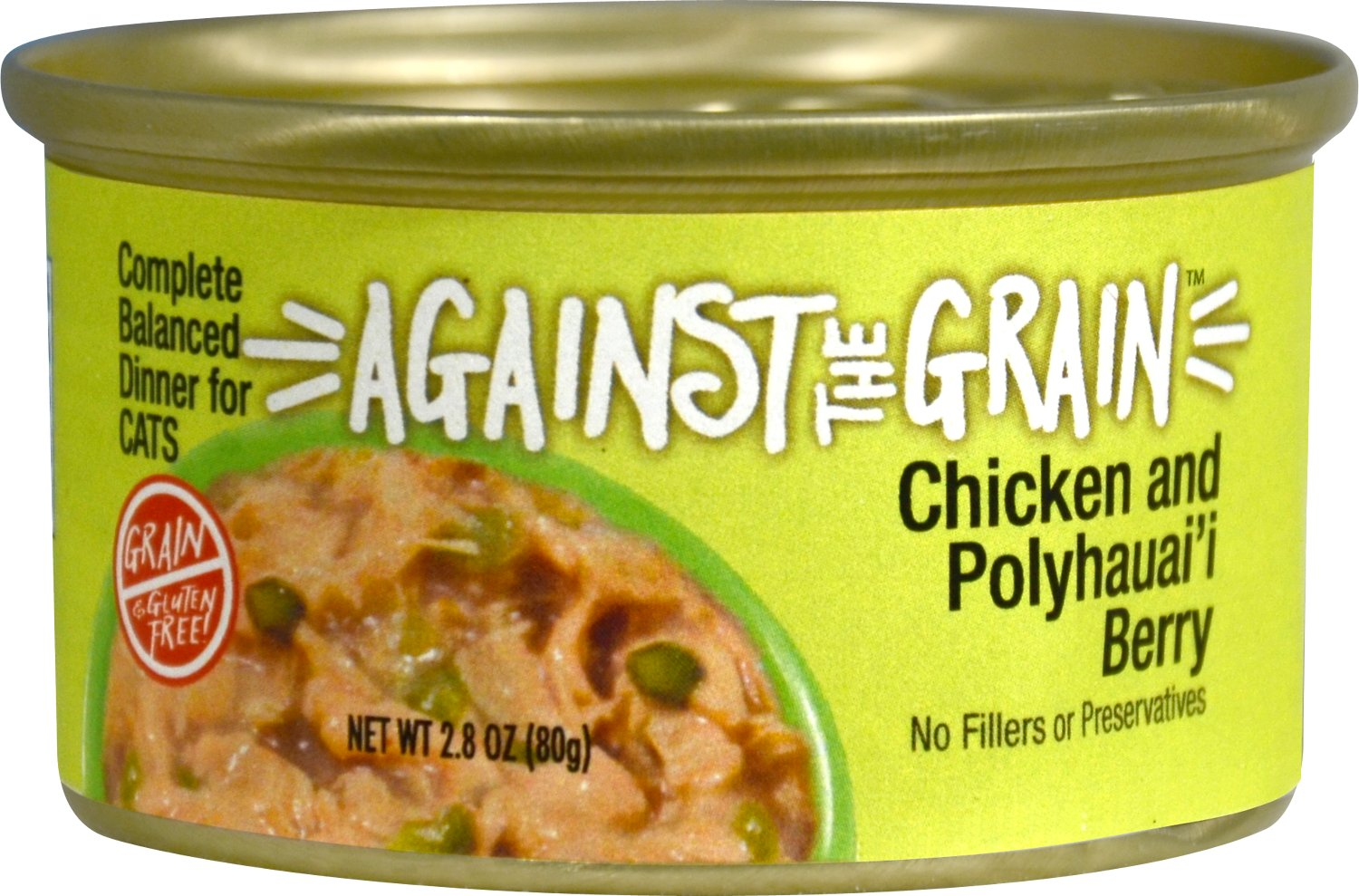 Against the Grain Chicken & Polyhauai'i Berry Dinner Grain-Free Wet Cat Food, 2.8-oz
