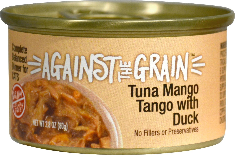 Against the Grain Tuna Mango Tango with Duck Dinner Grain-Free Wet Cat Food, 2.8-oz