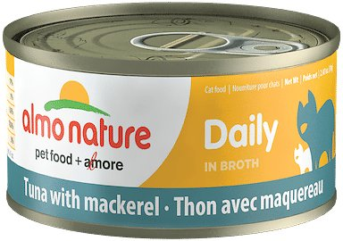 Almo Nature Daily Tuna with Mackerel in Broth Grain-Free Canned Cat Food, 2.47-oz