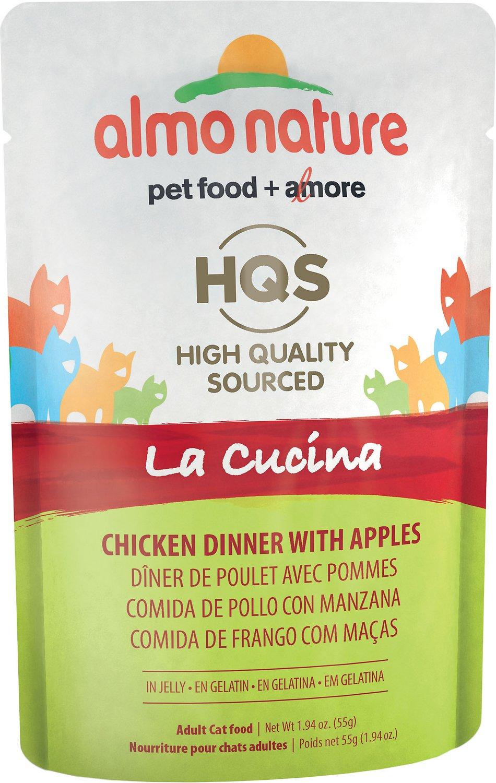 Almo Nature La Cucina Chicken with Apple Grain-Free Cat Food Pouches, 1.94 oz