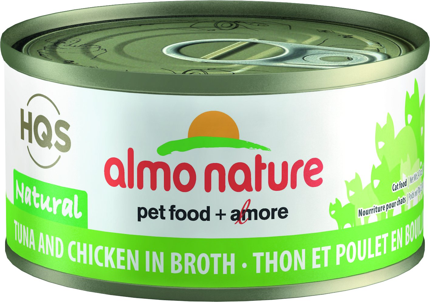 Almo Nature HQS Natural Tuna & Chicken in Broth Grain-Free Canned Cat Food, 2.47-oz