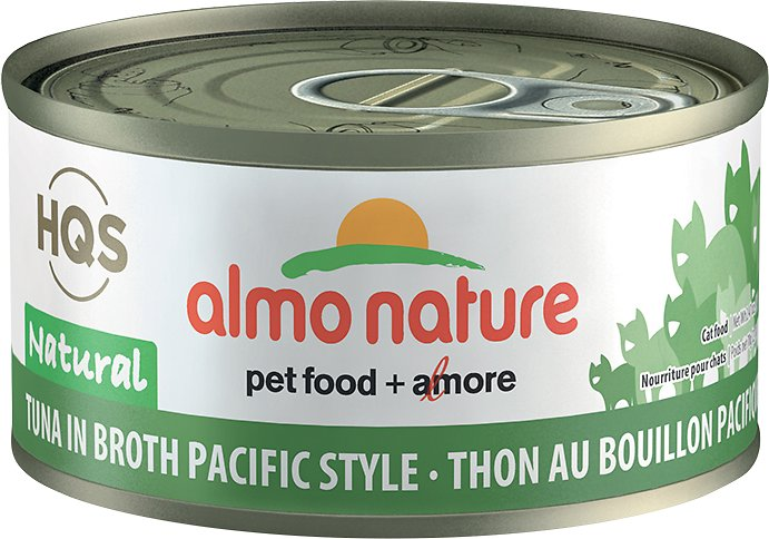Almo Nature HQS Natural Tuna in Broth Pacific Style Grain-Free Canned Cat Food, 2.47-oz