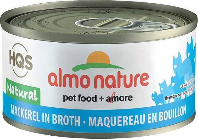 Almo Nature Legend 100% Natural Mackerel Adult Grain-Free Canned Cat Food, 2.47-oz