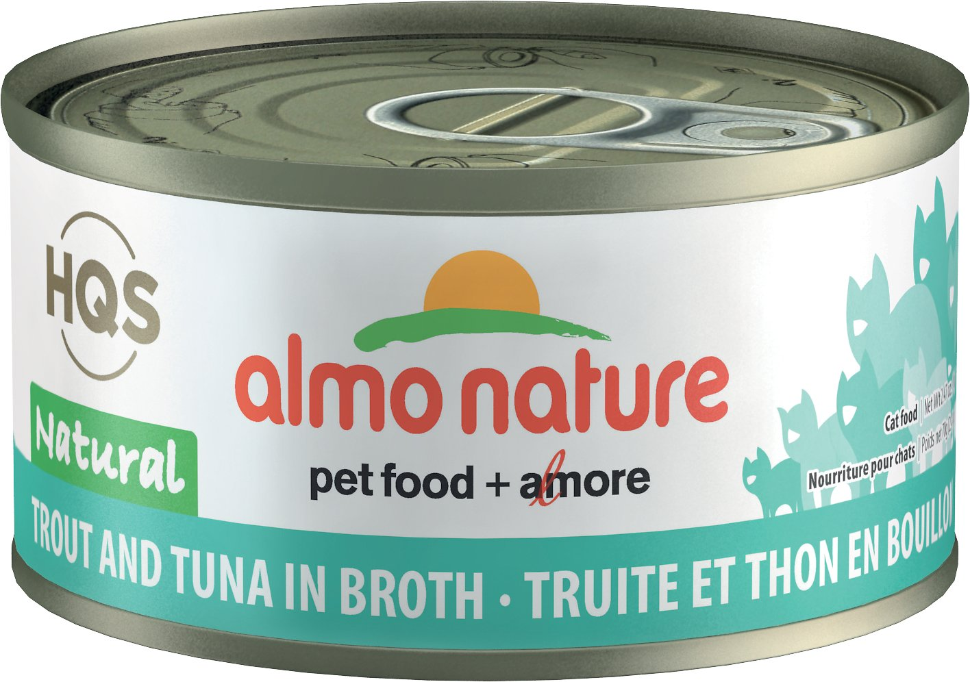 Almo Nature Natural Trout & Tuna in Broth Grain-Free Canned Cat Food, 2.47-oz