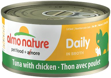Almo Nature Daily Tuna with Chicken in Broth Grain-Free Canned Cat Food, 2.47-oz