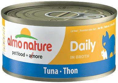 Almo Nature Daily Tuna in Broth Grain-Free Canned Cat Food, 2.47-oz