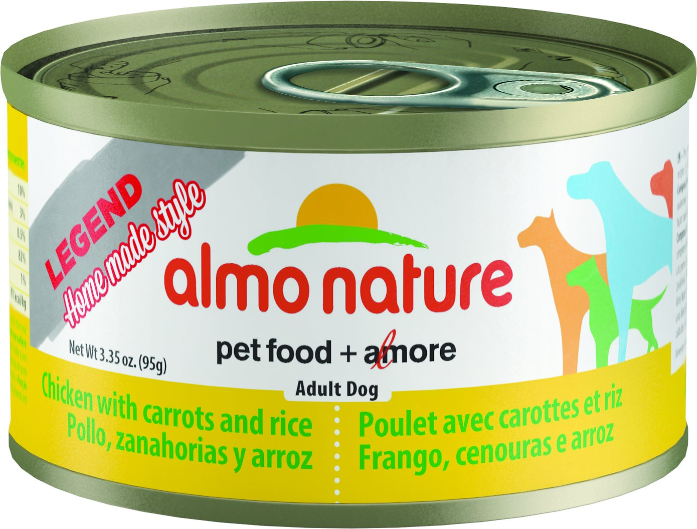 Almo Nature Legend Homemade Style Chicken with Carrots Adult Grain-Free Canned Dog Food